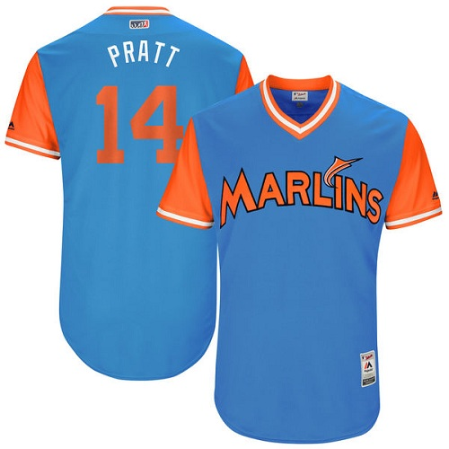 Men's Majestic Miami Marlins #14 Martin Prado