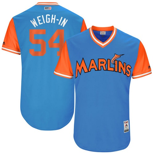 Men's Majestic Miami Marlins #54 Wei-Yin Chen