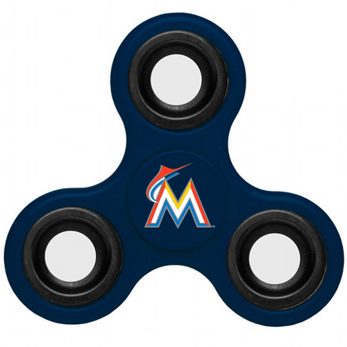 MLB Miami Marlins 3 Way Fidget Spinner B58 - Navy