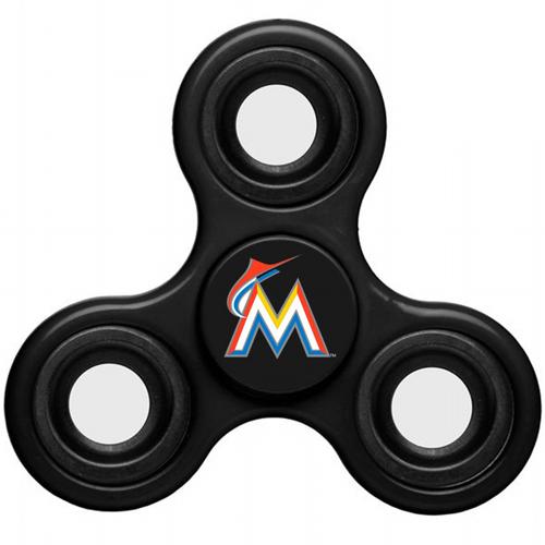 MLB Miami Marlins 3 Way Fidget Spinner C58 - Black