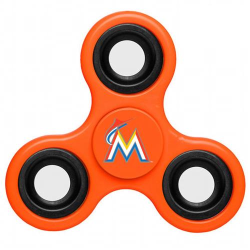 MLB Miami Marlins 3 Way Fidget Spinner E58 - Orange