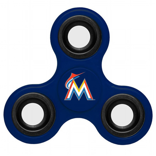 MLB Miami Marlins 3 Way Fidget Spinner F58 - Royal
