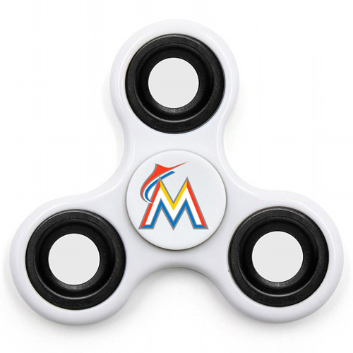 MLB Miami Marlins 3 Way Fidget Spinner I58 - White