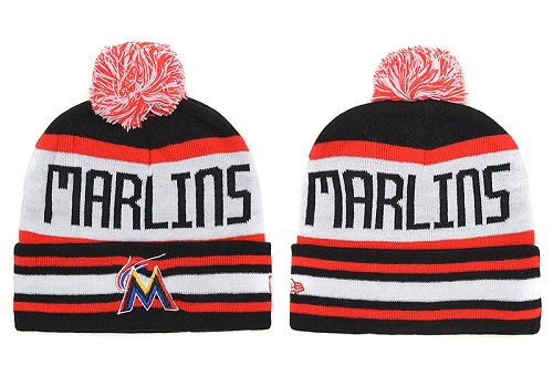 MLB Miami Marlins Stitched Knit Beanies 010
