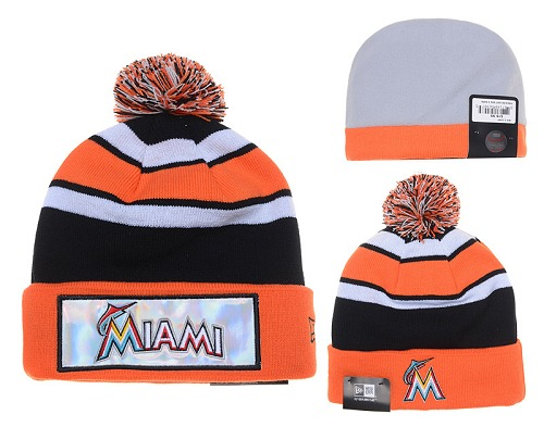 MLB Miami Marlins Stitched Knit Beanies 011