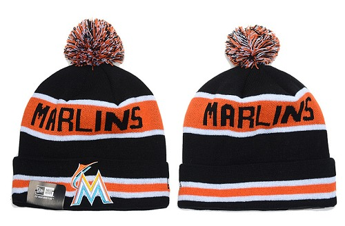 MLB Miami Marlins Stitched Knit Beanies 012