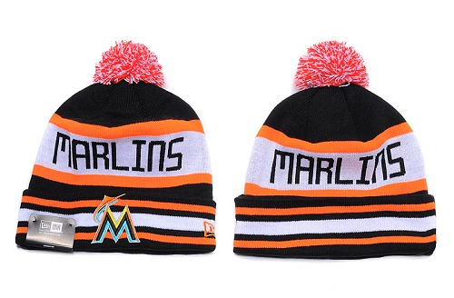 MLB Miami Marlins Stitched Knit Beanies 013