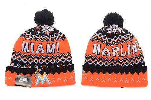 MLB Miami Marlins Stitched Knit Beanies 014