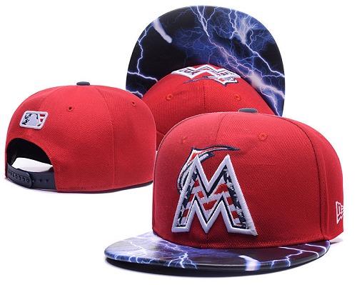 MLB Miami Marlins Stitched Snapback Hats 001