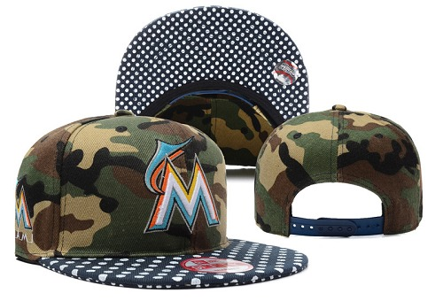 MLB Miami Marlins Stitched Snapback Hats 002