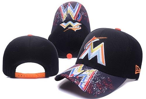 MLB Miami Marlins Stitched Snapback Hats 003