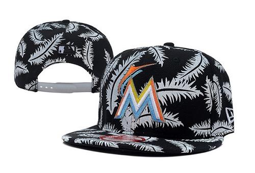 MLB Miami Marlins Stitched Snapback Hats 004