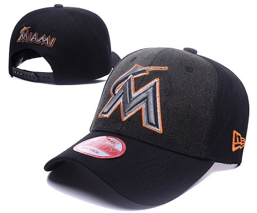 MLB Miami Marlins Stitched Snapback Hats 005