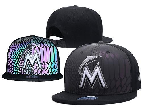 MLB Miami Marlins Stitched Snapback Hats 006
