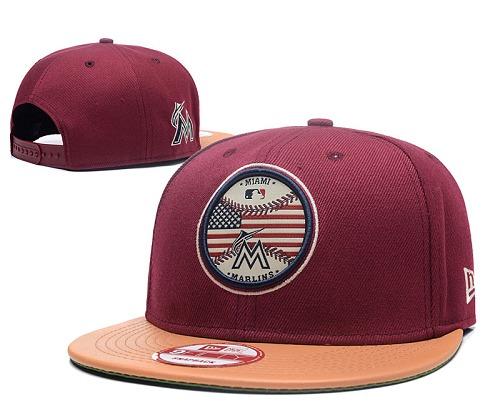 MLB Miami Marlins Stitched Snapback Hats 007