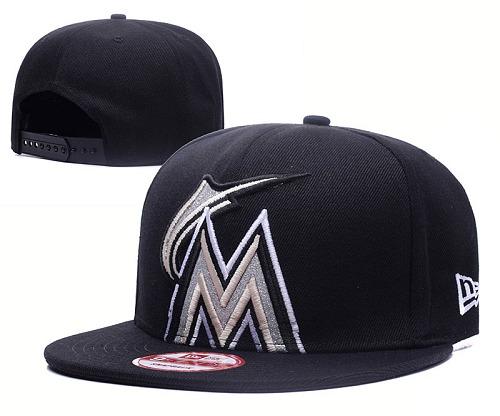 MLB Miami Marlins Stitched Snapback Hats 008