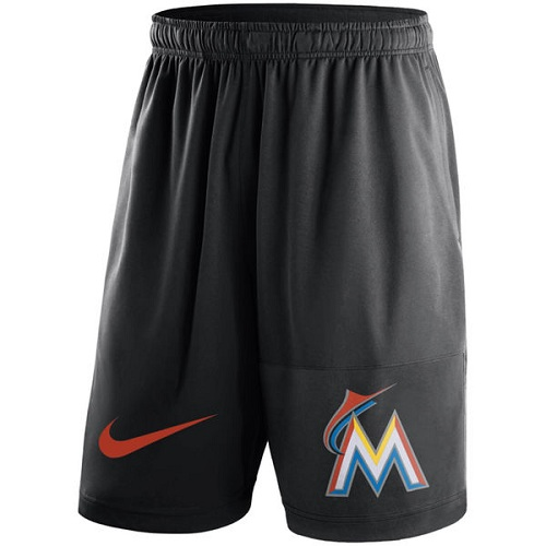 MLB Men's Miami Marlins Nike Black Dry Fly Shorts