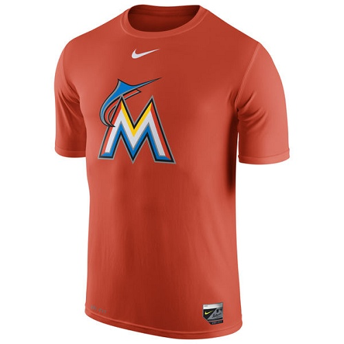MLB Miami Marlins Nike Authentic Collection Legend Logo 1.5 Performance T-Shirt - Orange